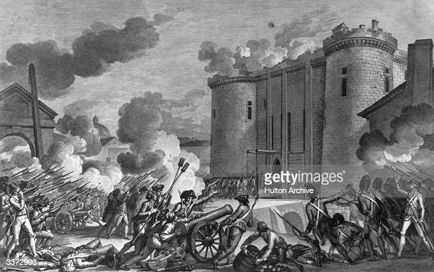 Capture of the Bastille on the 14th July 1789 by a mob with the help of royal troops.