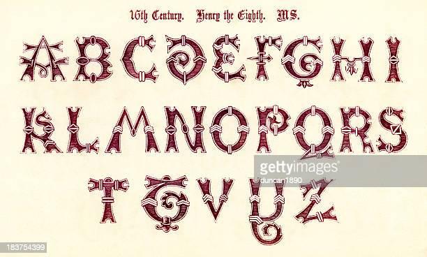 16th Century Style Alphabet
