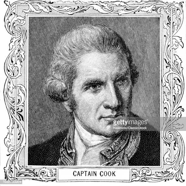 1700s 1775 PORTRAIT CAPTAIN JAMES COOK BRITISH NAVAL OFFICER EXPLORER DIED IN HAWAII FEBRUARY 14 1779