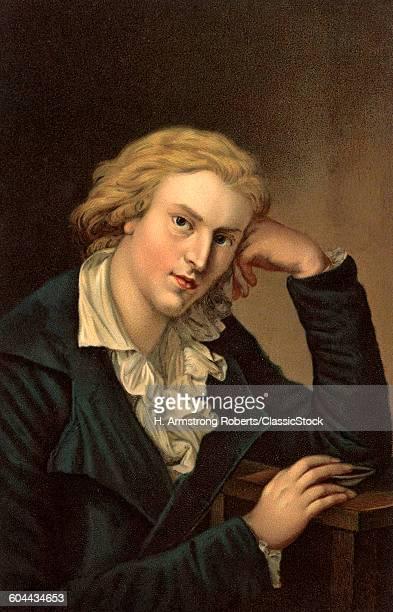 1780s FRIEDRICH VON SCHILLER GERMAN POET PLAYWRIGHT PHILOSOPHER FOUNDED WEIMAR CLASSICISM WITH GOETHE