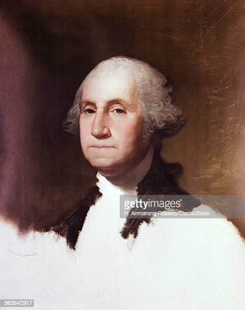 1790s 1796 UNFINISHED PORTRAIT OF GEORGE WASHINGTON BY GILBERT STUART