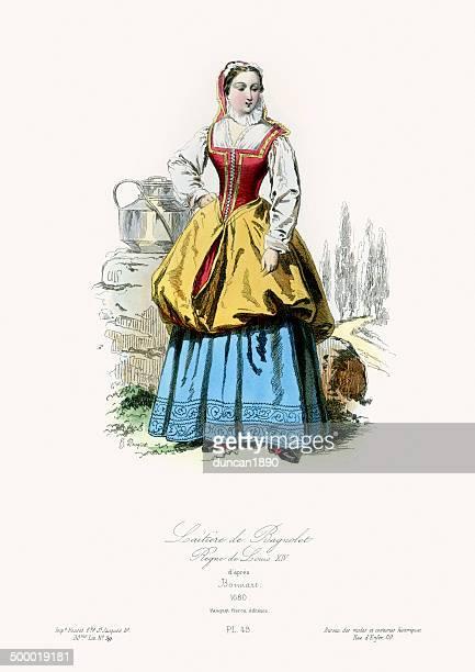 17th Century Fashion - Milkmaid of Bagnolet