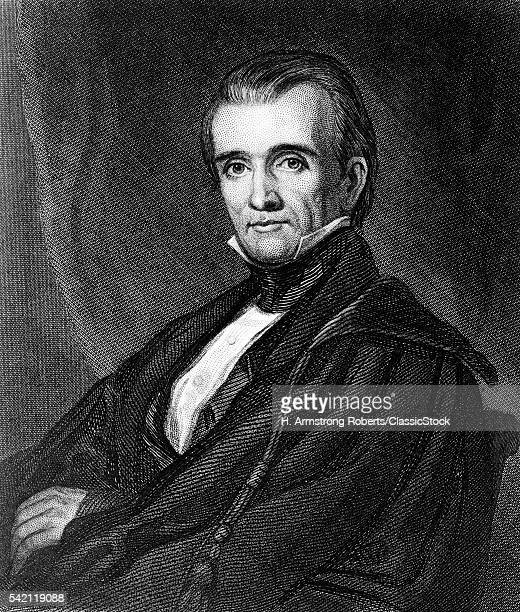 1840s PORTRAIT JAMES K POLK 17951849 11th AMERICAN PRESIDENT DEMOCRAT WAR WITH MEXICO EXPANSIONISM LOOKING AT CAMERA