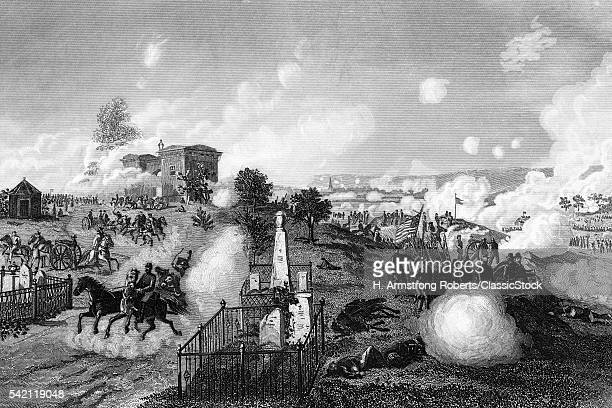 1860s JULY 1863 VIEW OF UNION LINES DURING BATTLE OF GETTYSBURG