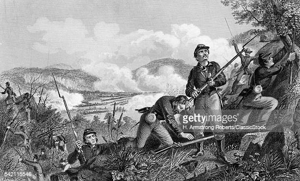 1860s NOVEMBER 1863 BATTLE OF LOOKOUT MOUNTAIN TENNESSEE DURING THE CHATTANOOGA CAMPAIGN
