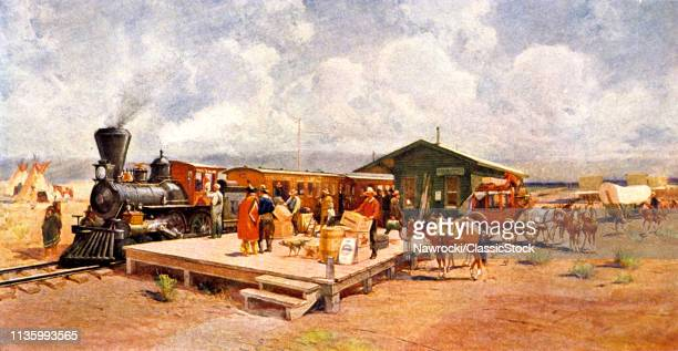 1870s EARLY RAILROAD...