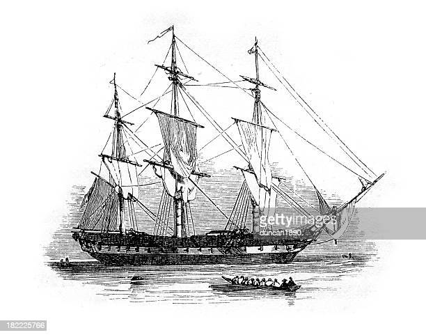 18th Century British Warship