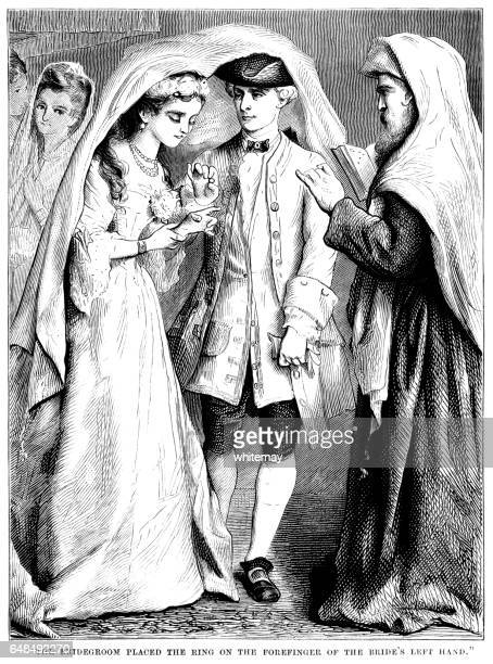 18 世紀のユダヤ人結婚式 - ユダヤ教点のイラスト素材/クリップアート素材/マンガ素材/アイコン素材