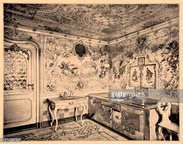 ブレーメンの18世紀スタイルの客室 - 名作 発祥の地点のイラスト素材/クリップアート素材/マンガ素材/アイコン素材