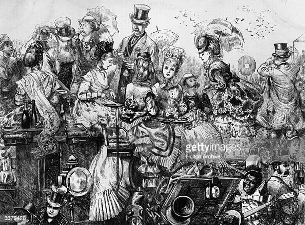 Victorian society folk gather at Ascot, more for the occasion than to watch the racing. One group pile onto the roof of their coach and start the...