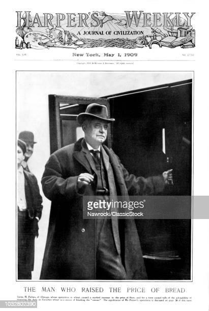 1900s 1909 JAMES PATTEN AMERICAN GRAIN MERCHANT AND FINANCIER WHO CORNERED THE GRAIN MARKET RAISED PRICE OF BREAD