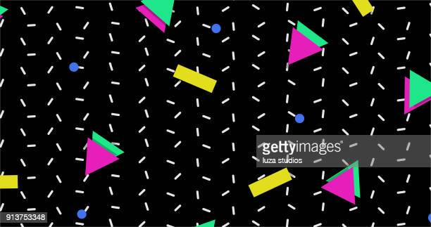 1990s style background pattern - 1990 1999 stock illustrations