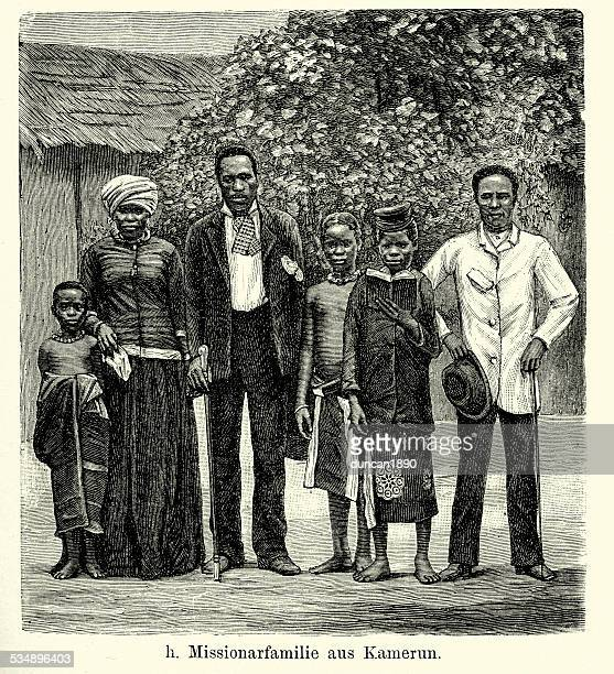 19th Century Africa -  missionary family in Cameroon