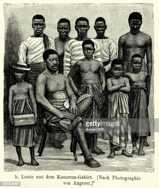 19th century africa - people from the cameroon region - cameroon stock illustrations, clip art, cartoons, & icons