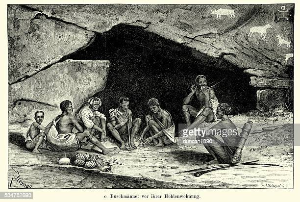 19th Century Africa -  San or Bushman Family
