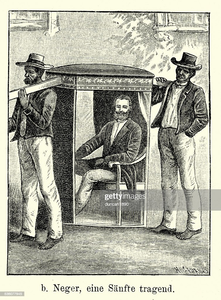 19th Century Brazil Sedan Chair And African Servants High Res Vector Graphic Getty Images