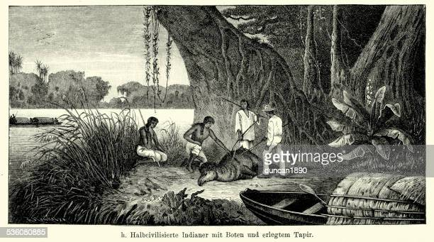 19th Century Brazil - Tapir Hunters