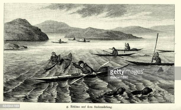 19th Century Eskimo seal hunt