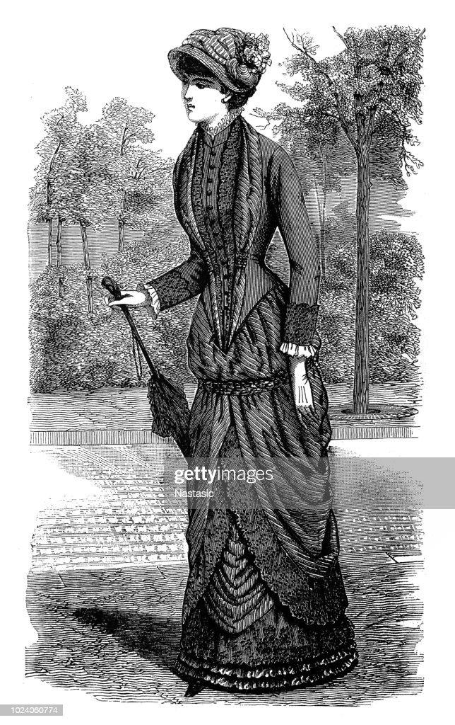 19th century fashion : stock illustration