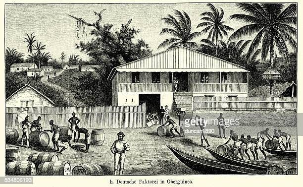 19th Century German trading post in Upper Guinea