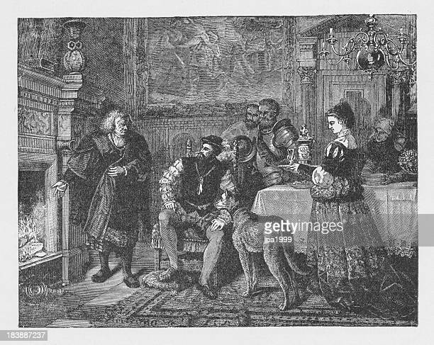 19th century illustration about Charles V at Fugger of Augsburg