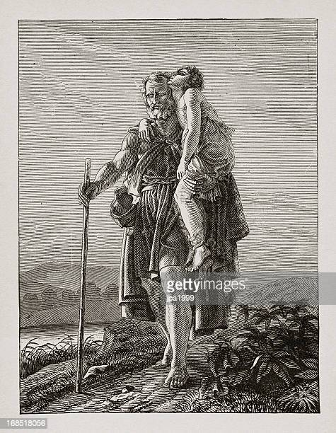 19th century illustration of belisarius - unfairness stock illustrations
