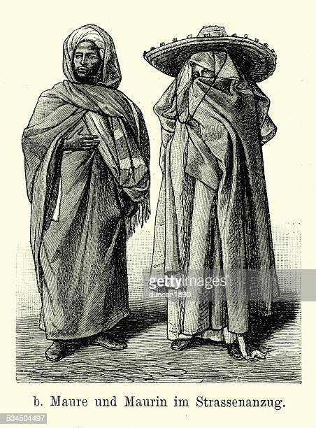 19th Century Morocco - Moorish man and woman