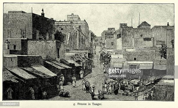 19th century morocco - tangier - morocco stock illustrations, clip art, cartoons, & icons
