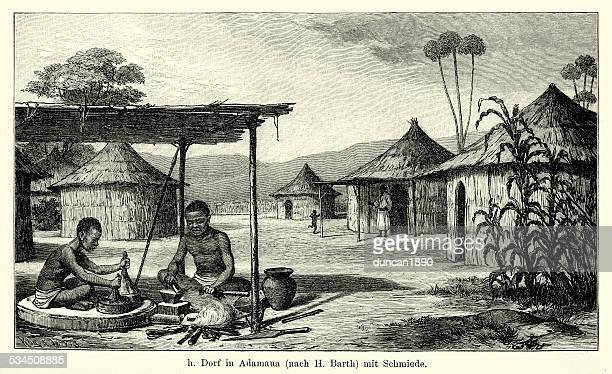 19th Century Nigeria - village in Adamawa