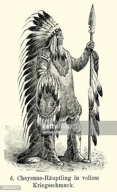 19 世紀の北米-cheyenne 最高 - 酋長点のイラスト素材/クリップアート素材/マンガ素材/アイコン素材