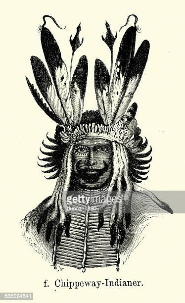 19th Century North America -  Ojibwe Native American
