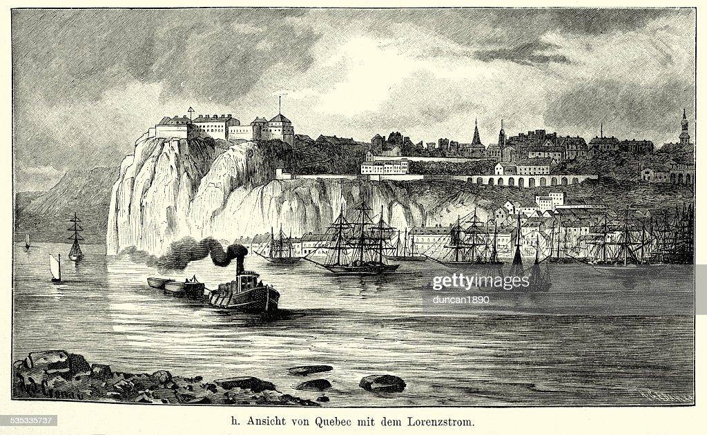 19th Century North America -  Quebec : Stock Illustration