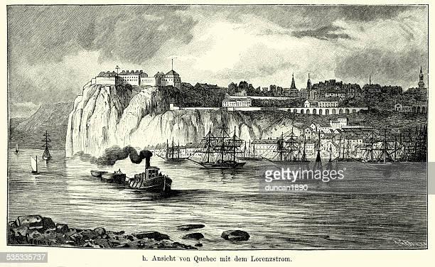 ilustrações, clipart, desenhos animados e ícones de século 19 américa do norte-quebec - história