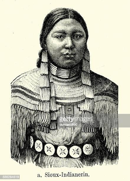 ilustraciones, imágenes clip art, dibujos animados e iconos de stock de 19 th century north america-sioux nativo americano - indios americanos sioux