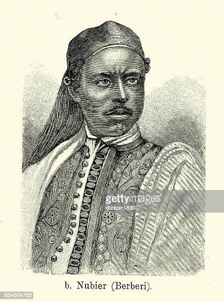 19th century nubian - nubia stock illustrations, clip art, cartoons, & icons