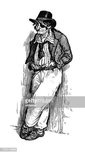 19th century sailor with an eye patch