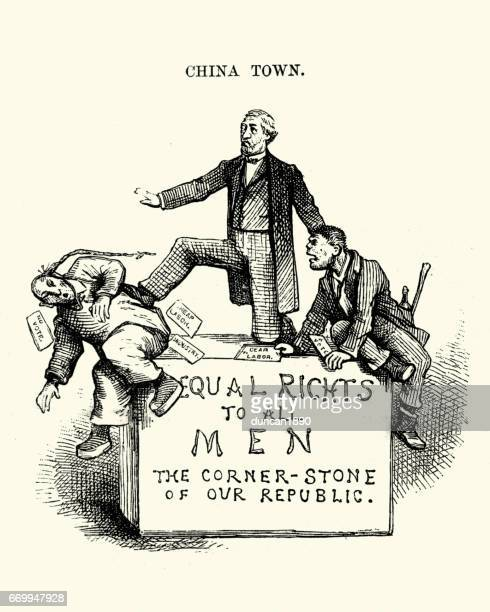19th Century Satire on Chinese immagration in the USA