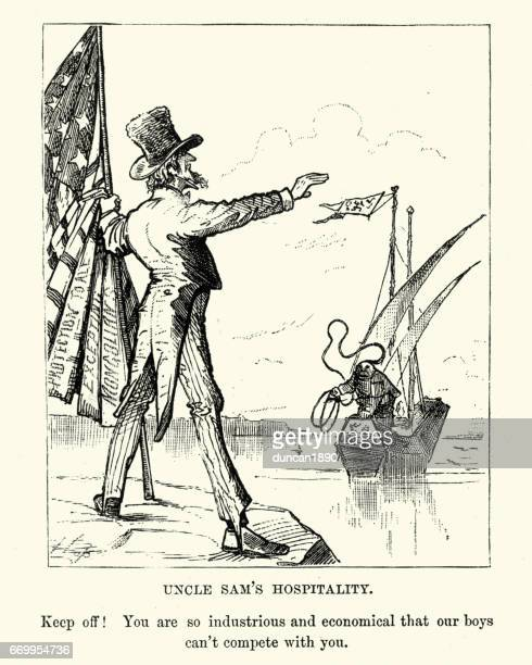 19e eeuw Satire op Chinese immagration in de VS