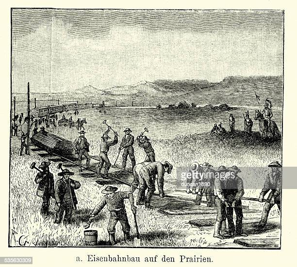 19th Century USA - Railway construction on the Great Plains