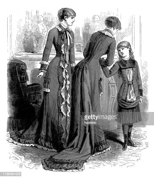 19th century woman fashion