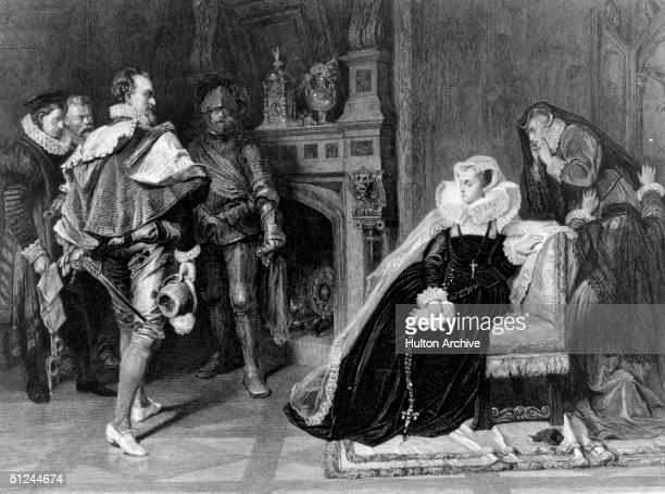 1st February 1587, The death warrant of Mary Queen of Scots , authorised by Elizabeth I, is brought to her in her prison. Mary had ascended to the...