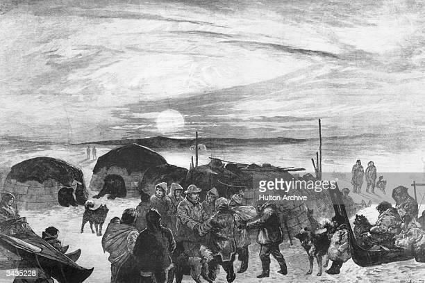 The American search party led by Frederick Schwatka which succeeded in finding remains of explorer Sir John Franklin's ill-fated 1845 Arctic...