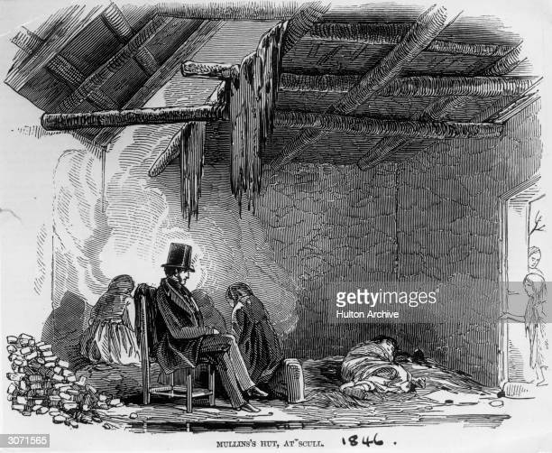 The interior of an Irish peasant's cottage in Scull Ireland
