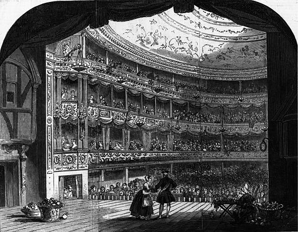 The interior of the Lyceum Theatre after it had been...
