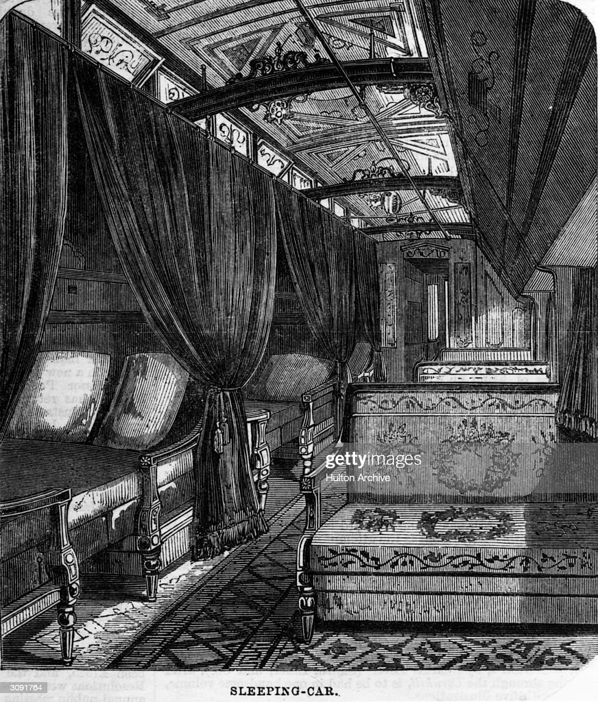 The Interior Of A Pullman Sleeping Car On The Pacific