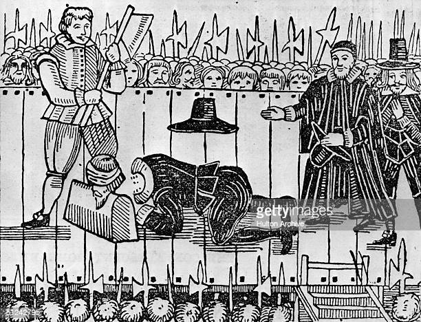 30th January 1649, The execution of Charles I, , King of Great Britain, in front of Whitehall, London.