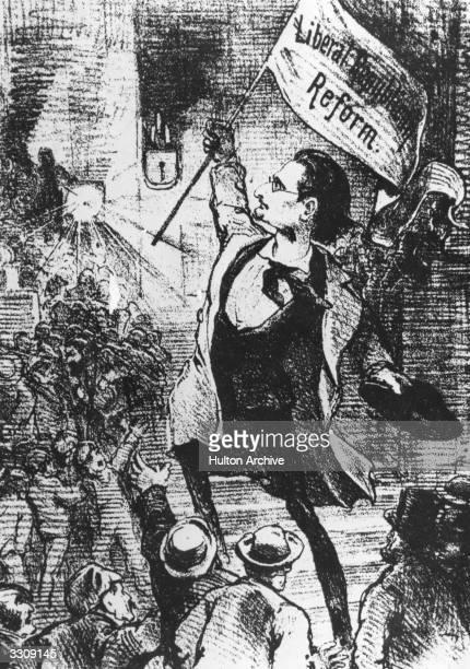 Hungarian born American newspaper proprietor Joseph Pulitzer shown