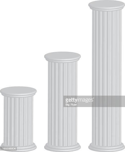 3 d の柱 - 古典様式点のイラスト素材/クリップアート素材/マンガ素材/アイコン素材