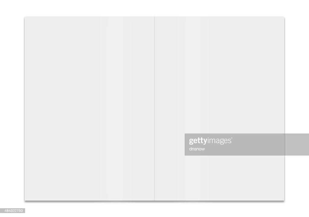 3 D Darstellung Der Eine Leere Broschüre Stock-Illustration   Getty ...