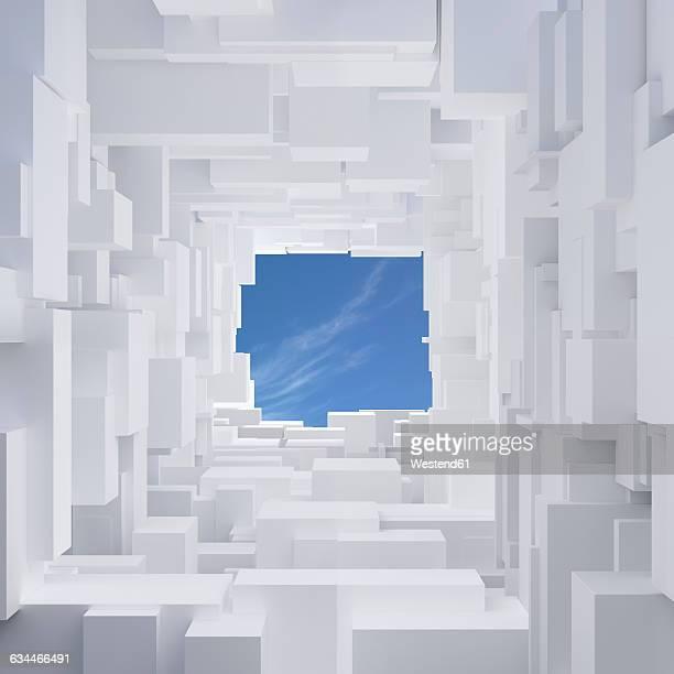 3d-rendering, mega city, living space - 漂白した点のイラスト素材/クリップアート素材/マンガ素材/アイコン素材